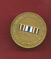 UNIONE VETERANI 1915 18 VENEZIA CAVALLIERI VITTORIO VENETO - Italia