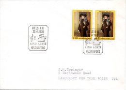 FINLANDE. N°752 X2 Sur Enveloppe 1er Jour (FDC) De 1976. Cantatrice. - Musik