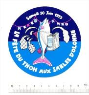 Autocollant Sticker / Fête Du Thon Aux Sables D'Olonne / Accordéon Poisson Humour Tuna Fish Pêche  // ADH 21/3 - Autocollants