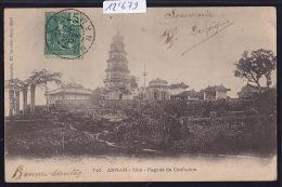 Annam - Hué - Pagode De Confucius - Vers  1900 (dos Simple)  (12´679) - Viêt-Nam