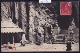 Annam - Tourane - Pagode De Marbre Dans La Grotte ; Timbre Indochine Française 1907 (12´686) - Viêt-Nam
