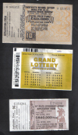 MALTA - 3 OLD LOTTERY TICKETS - 1955 / 1973 / 2013 - Lottery Tickets