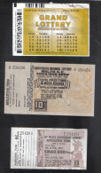 MALTA - 3 OLD LOTTERY TICKETS - 1955 / 1973 / 2013 - Lotterielose