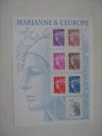 2011   F4614 * *  NO YT  4614/4620  BLOC  MARIANNE & L EUROPE - Blocs & Feuillets