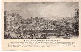 Meudon (Hauts De Seine)-Ecrite En 1912-Illustration (dessin) Du Château (17-18e S)-Côté Parterre-exp.--> Thuin, Belgique - Meudon
