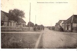 Belhomert-Guéhouville (Le Loupe-Nogent-le-Rotrou-Eure Et Loir)-1922-Les Quatre Routes-Pub. Michelin Sur La Droite - Nogent Le Rotrou