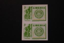 Liberia Rotary Stamp Imperforate Pair MNH 1955 A04s - Liberia