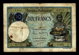 10 Francs MADAGASCAR  Type 1926 (T.1016) - Madagascar