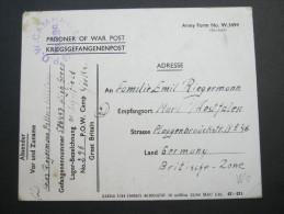1946,POW, Card To Germany - 1902-1951 (Reyes)