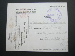 1945,POW, Card To Germany - 1902-1951 (Reyes)