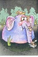 ELEPHANT AND MICE - DUFEX CARD M155 - Elephants