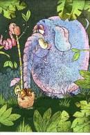 ELEPHANT AND SNAKE - DUFEX CARD M156 - Elephants