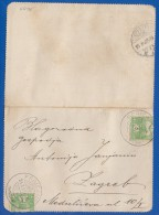 Kroatien; Brief 2x5 Filler Magyar Posta 1913; Fericanci Nach Zagreb; Brief Mit Inhalt - Kroatien