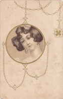 Femmes (Fantaisie) - Portrait Dans Un Médaillon Rond - Trèfle - Women