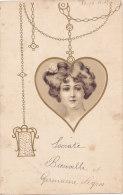 Femmes (Fantaisie) - Portrait Dans Un Médaillon En Coeur - Women