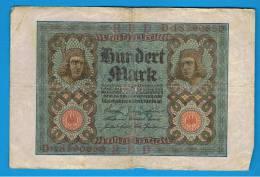 ALEMANIA - GERMANY -  100 Mark  1920 MBC-  P-69 - [ 3] 1918-1933 : República De Weimar