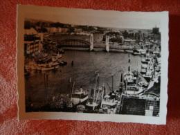 Stettin: Altes Original-Foto Ca. 9,0 Cm X 6,5 Cm, B....brücke Mit Getreidesilo - Orte