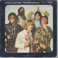 "45 Tours SP - THE ROLLING STONES - DECCA 79025  "" JUMPIN'JACK FLASH "" + 1 - Vinyl Records"