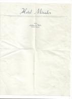 Lettre Entete Hotel Mirador Andorra - Vieux Papiers