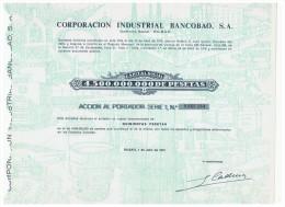 ACCION ANTIGUA - ACTION ANTIQUE = Corporacion Industrial BANCOBAO  1974 - Acciones & Títulos