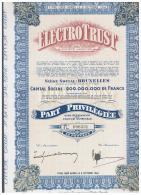 ACCION ANTIGUA - ACTION ANTIQUE =  ELECTROTRUST - Bruselas  1944 - Acciones & Títulos