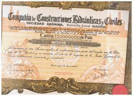 ACCION ANTIGUA - ACTION ANTIQUE = Construcciones Hidraulicas Y Civiles 1934 - Acciones & Títulos