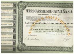 ACCION ANTIGUA - ACTION ANTIQUE = Ferrocarriles De Cataluña 1969 - Acciones & Títulos