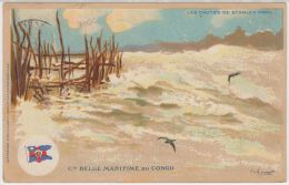 19110g LES CHUTES De STANLEY POOL - Cie Belge Maritime Du Congo  - 1912 - Illustrateurs & Photographes