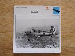 AISA I-115    Appareil D´entrainement FICHE AVION Avec Description   Aircraft Aviation - Avions
