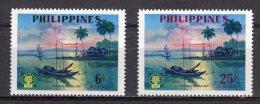 (S0536) PHILIPPINES, 1960 (World Refugee Year). Complete Set. Mi ## 652-653. MNH** - Philippines