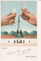 COGNAC LEOPOLD BRUGEROLLE MATHA /COGNAC  CARTE PUBLICITAIRE - Publicité