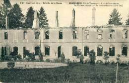 Chapelaine  Le Chateau Détruit Par Le Bombardement (côté Sud)  Cpa - France