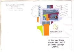 GOOD SLOVENIA Postal Cover To LATVIA 2012 - Good Stamped: Maribofila - Slovenia