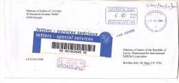 "GOOD GEORGIA "" REGISTERED "" Postal Cover To LATVIA 2009 - Postage Paid - Georgia"
