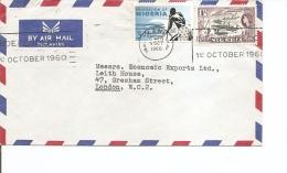 Nigéria ( Lettre Par Avion De 1960 Vers La Grande-Bretagne à Voir) - Nigeria (...-1960)