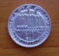 MONETA DA 1 LIRA DI SAN MARINO DEL 1977  IN FDC - - San Marino