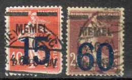 Memel 1921 Mi 34-35, Gestempelt [090913L] @ - Memelgebiet