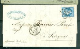 N°22  Sur LAC Oblitéré GC 532  ( Bordeaux ) Le 2/01/1866     - Ad22842 - 1862 Napoleon III