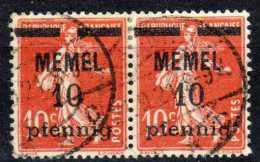 Memel 1920 Mi 19, Gestempelt X 2 [090913L] @ - Memelgebiet