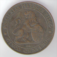 SPAGNA 5 CENTIMOS 1870 - [ 1] …-1931 : Regno