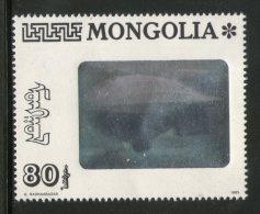 Mongolia 1993 Graf Zapplin Balloon HOLOGRAM Stamp Sc 2139 1v MNH # 1548 - Holograms