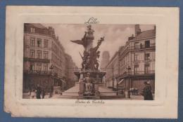 59 NORD - CP ANIMEE LILLE - STATUE DE TESTELIN - ELD - CIRCULEE - Lille