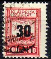 Memel (Klaipeda) 1923 Mi 196, Gestempelt [090913L] @ - Memelgebiet