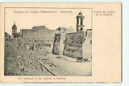BETHLEHEM : Entrée De L'Eglise De La Nativité. Dos Simple. Bethléem. 2 Scans. - Palestine