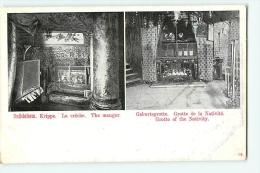 BETHLEHEM : La Crêche, Grotte De La Nativité. Dos Simple. Bethléem. 2 Scans. - Palestine