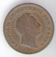 DEUTSCHLAND - BADEN - 1/2 KREUZER (1852) LEOPOLD - [ 1] …-1871 : Stati Tedeschi