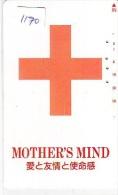 Telecarte Japon * Croix Rouge (1170) PHONECARD JAPAN * Red Cross * TK * Rotes Kreuz * - Werbung