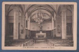 39 JURA - CP MOLINGES - L'INTERIEUR DE L'EGLISE - PHOTO R. SELVA GENEVE N° A 23 - Altri Comuni