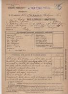 ^ CASTEL MAGGIORE VENTURI FANTERIA BOLOGNA FOGLIO MATRICOLARE DOCUMENTO MILITARE 18 - Historical Documents
