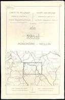 Institut Géographique Militaire - PONDRÔME-WELLIN,  59/5-6 - Geographical Maps